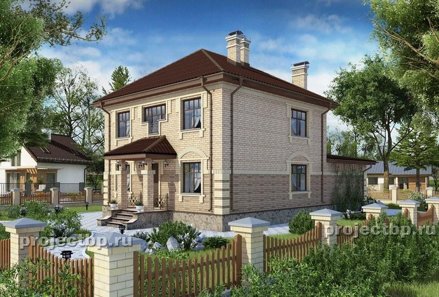 Проект двухэтажного дома в английском стиле B-184