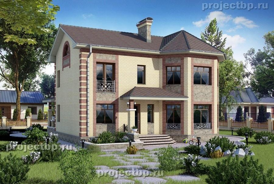 Проект небольшого двухэтажного дома с эркером B-145