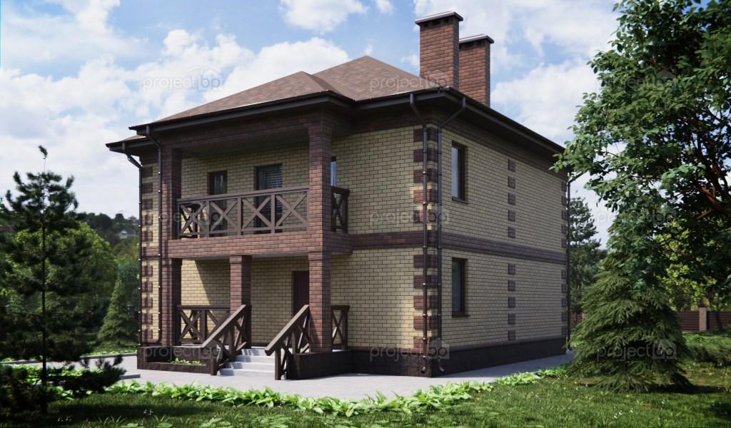 Проект загородного двухэтажного дома 143-C
