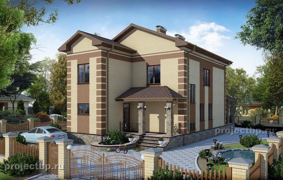 Проект двухэтажного дома с подвалом для маленького участка 214-B