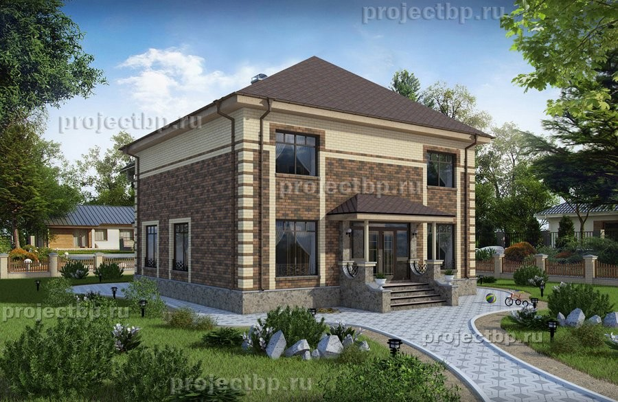 Проект просторного двухэтажного дома B-207