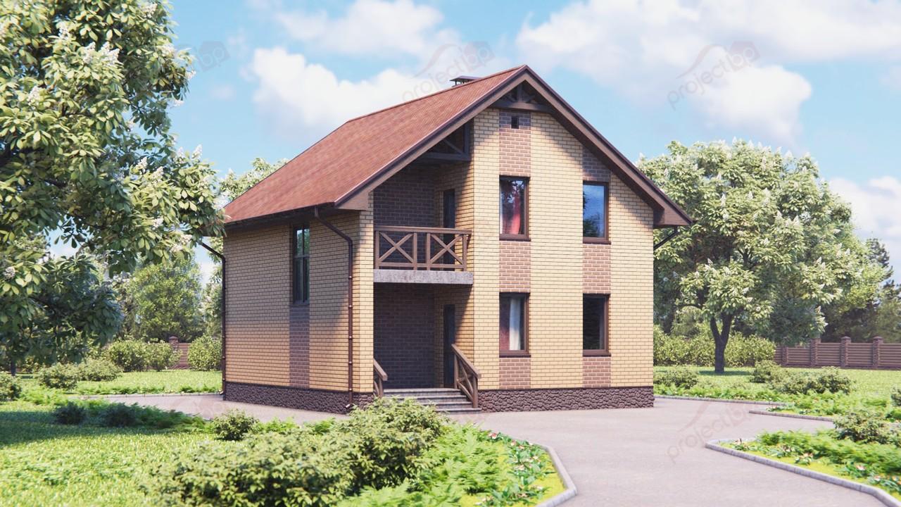 Проект дома с небольшими размерами и с мансардой 111-A-Z