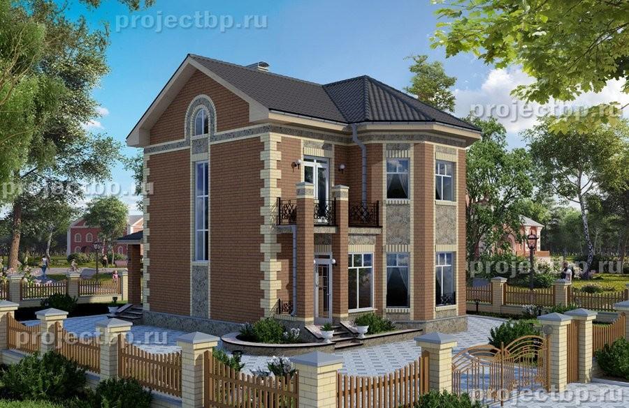Проект  двухэтажного дома с эркером 9х10 B-108-Z