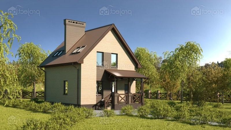 Проект малогабаритного дома с мансардой 85-C-Z