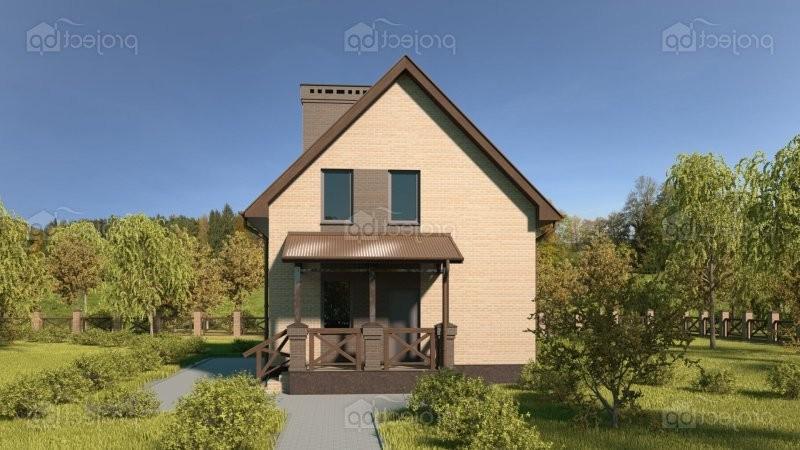 Проект простого дома с мансардой 98-C-Z