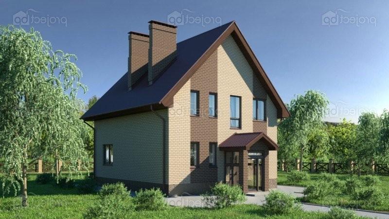 Проект дома с мансардой и высокой крышей 134-A-Z