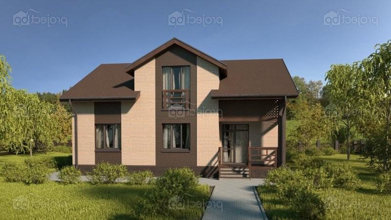 Проект дома с мезонином и мансардой 150-A-Z