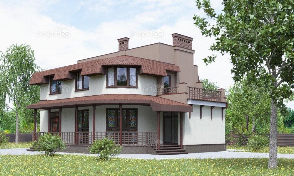 Проект дома с мансардой и фальшскатами крыши 153-A-Z