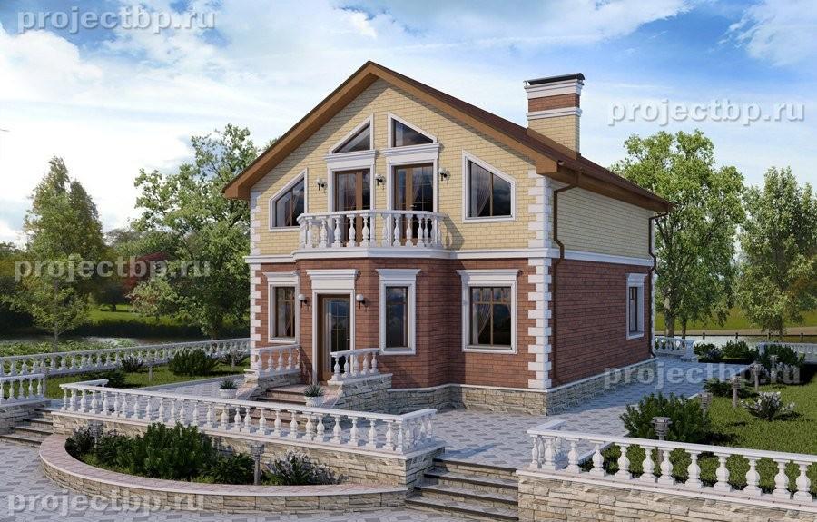 Проект дома с мансардой 9x10 120-D-Z
