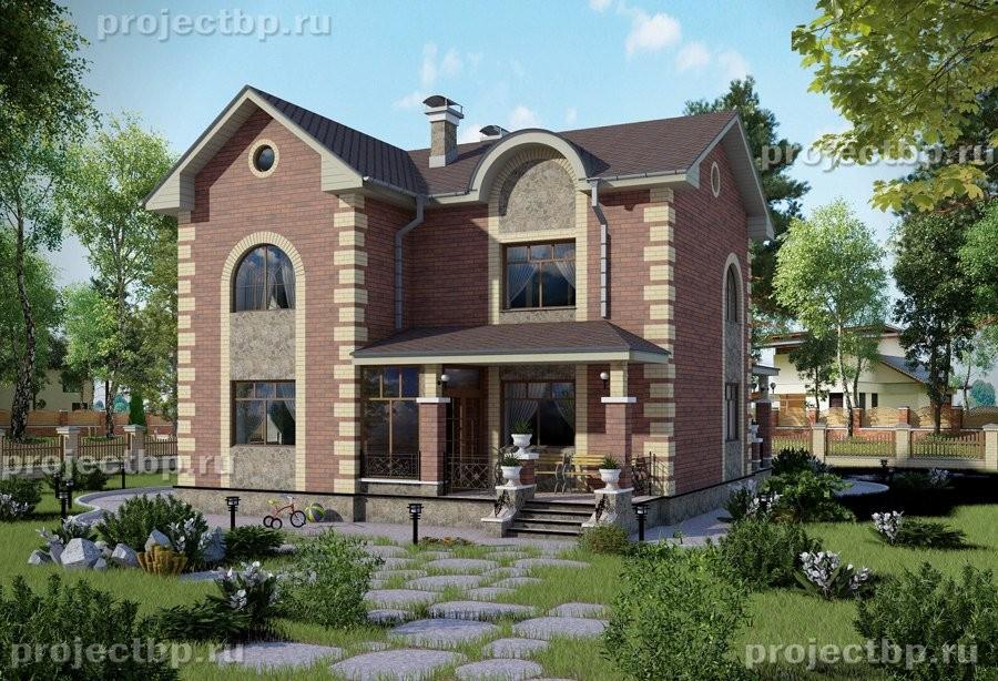 Проект двухэтажного дома 11x10 в классическом стиле 131-B-Z