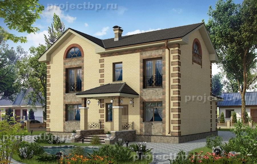 Проект двухэтажного дома 13x8 135-D-Z