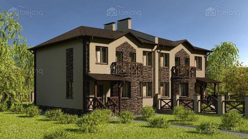 Проект двухэтажного дуплекса на две семьи 267-C-Z