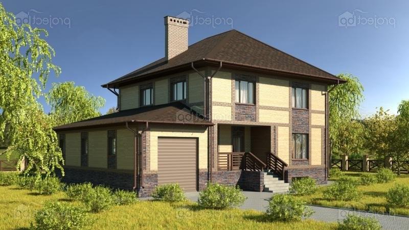 Проект двухэтажного дома с сауной и комнатой отдыха 275-C-Z