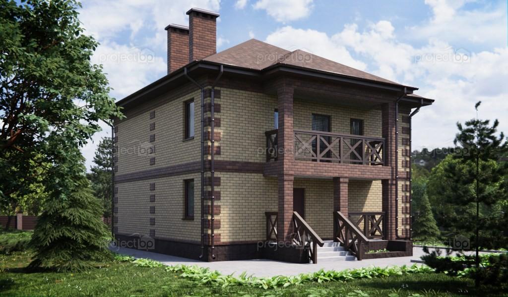 Проект загородного двухэтажного дома с балконом 143-C-Z