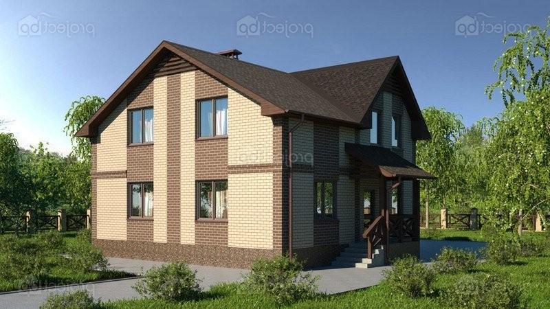 Проект дома со скатной крышей и наружным крыльцом C-149-2-Z