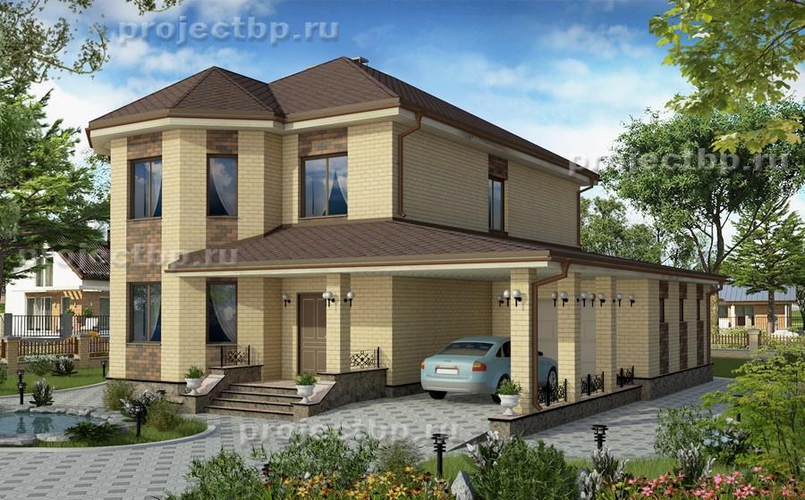 Проект двухэтажного дома шириной 13 метров 195-B-1-Z