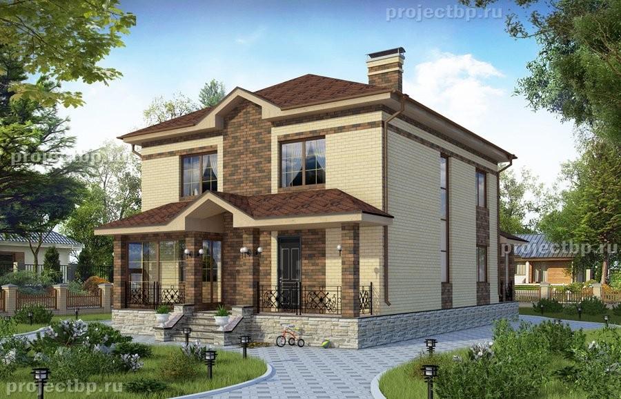 Проект двухэтажного дома с подвалом 280-B