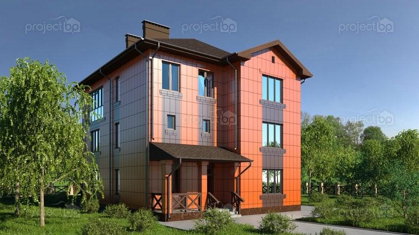 Проект трехэтажного дома с вентилируемыми фасадами A-299-2