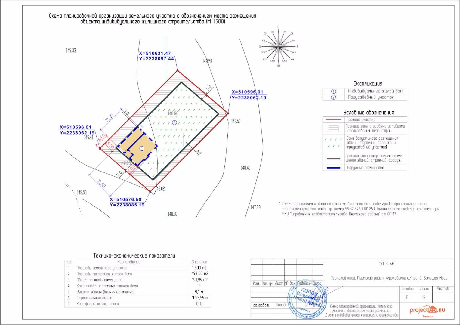 Исполнительная схема расположения объекта капитального строительства в границах земельного участка