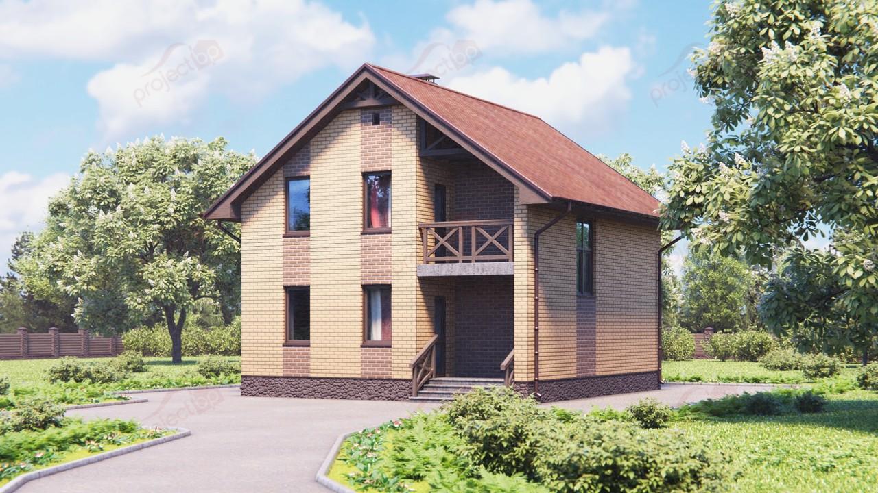 Проект компактного дома с мансардой 111-A