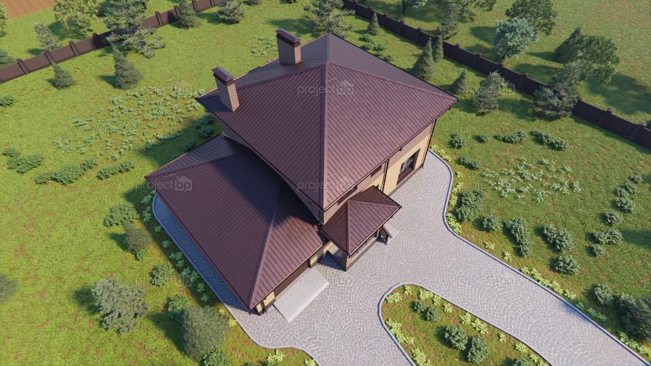 Проект современного двухэтажного дома с гаражом  172-C