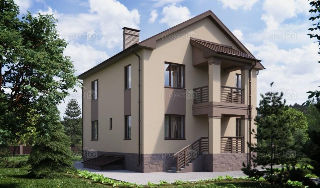 Проект двухэтажного дома с подвалом под частью здания 173-A