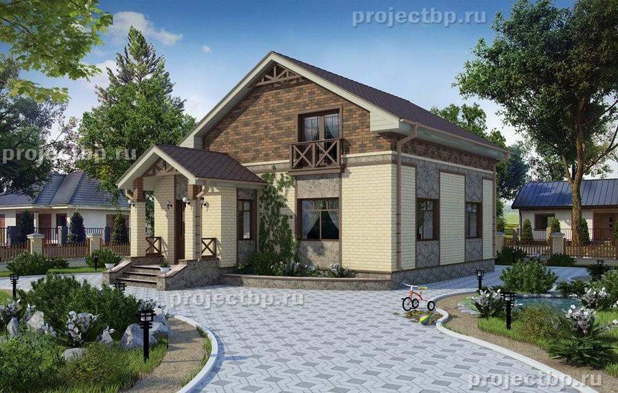 Проект небольшого дома с мансардой 123-B